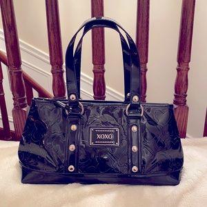 XOXO Patent Black Shoulder Bag